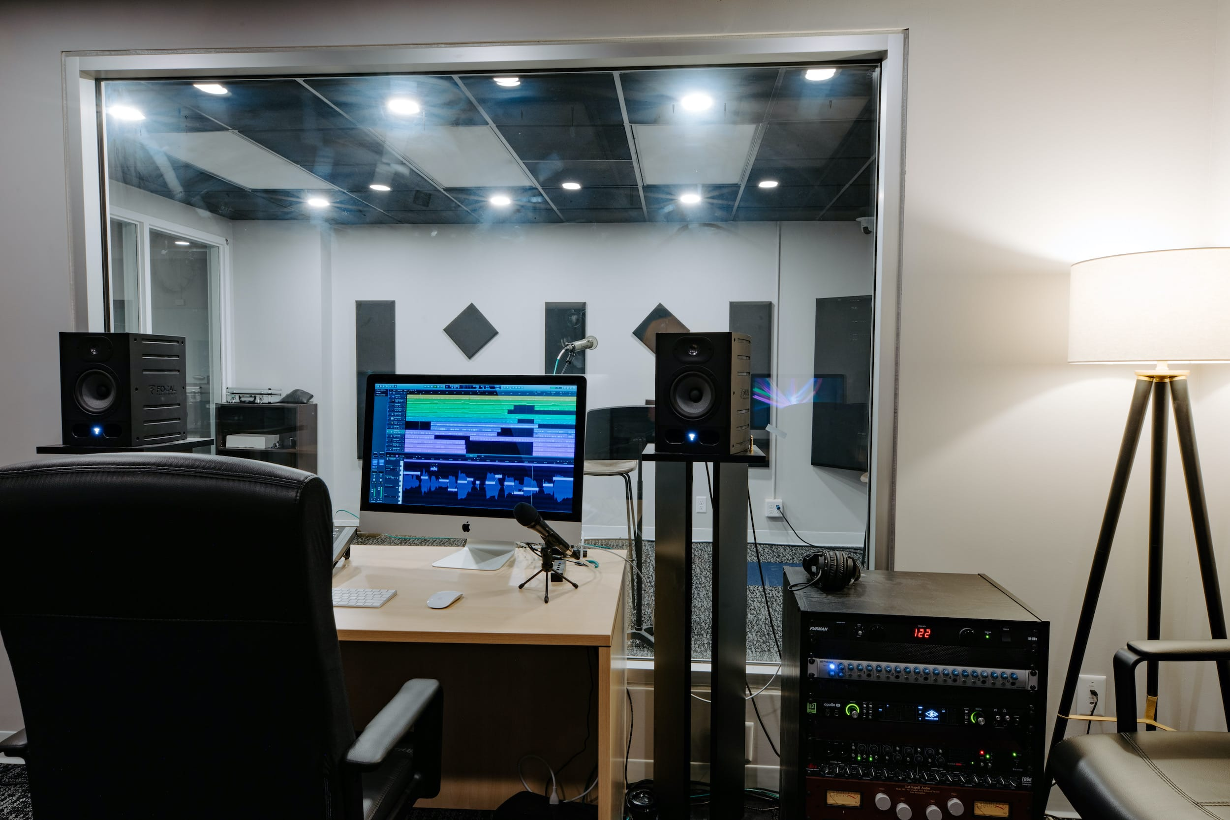 communication department recording room for christian courses