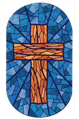 the holy cross carved by glass in crown college