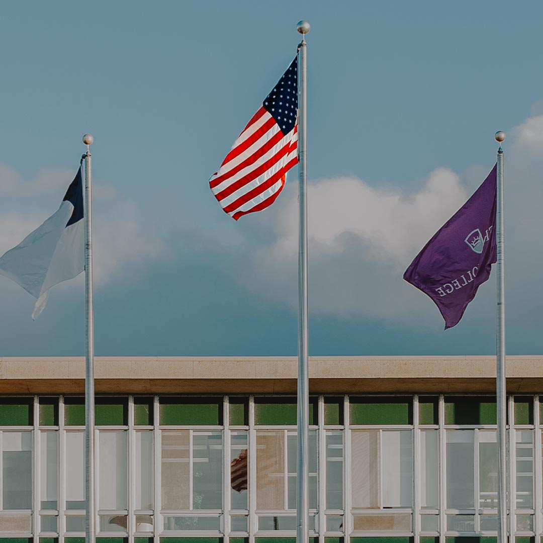 flags blowing in wind crown college tuition