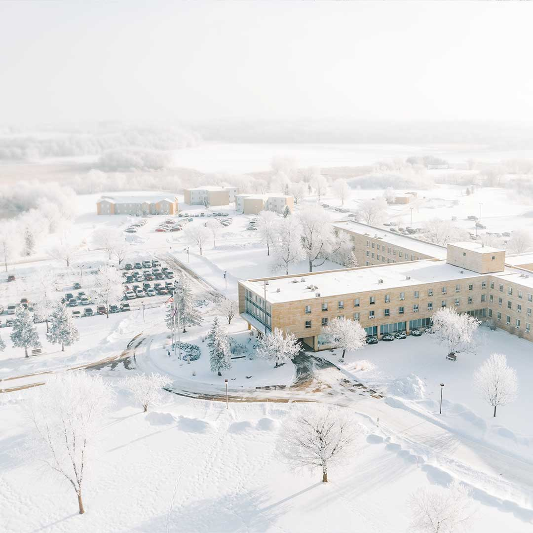 gorgeous snowy campus private christian college