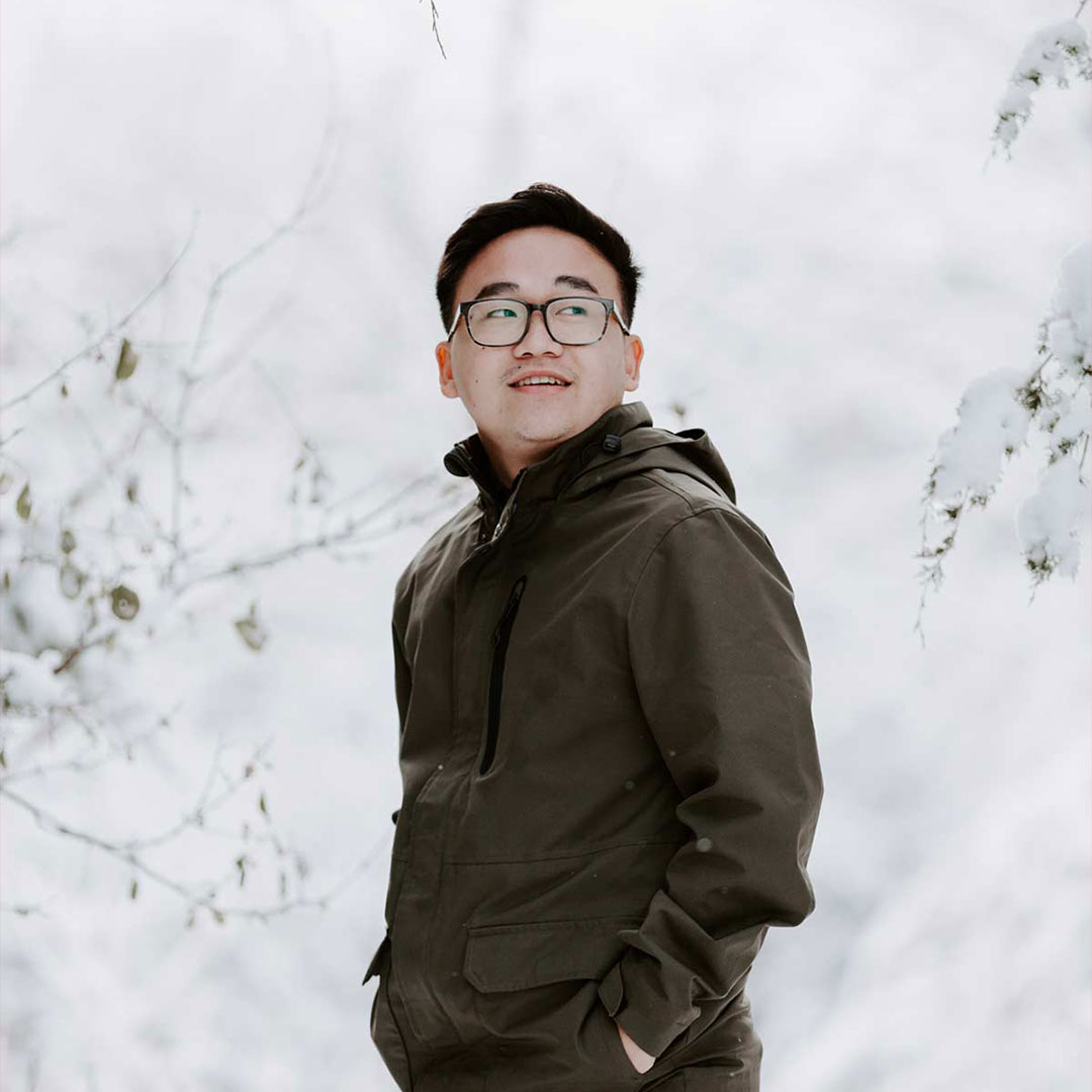 male student out in snow biblical and theological studies