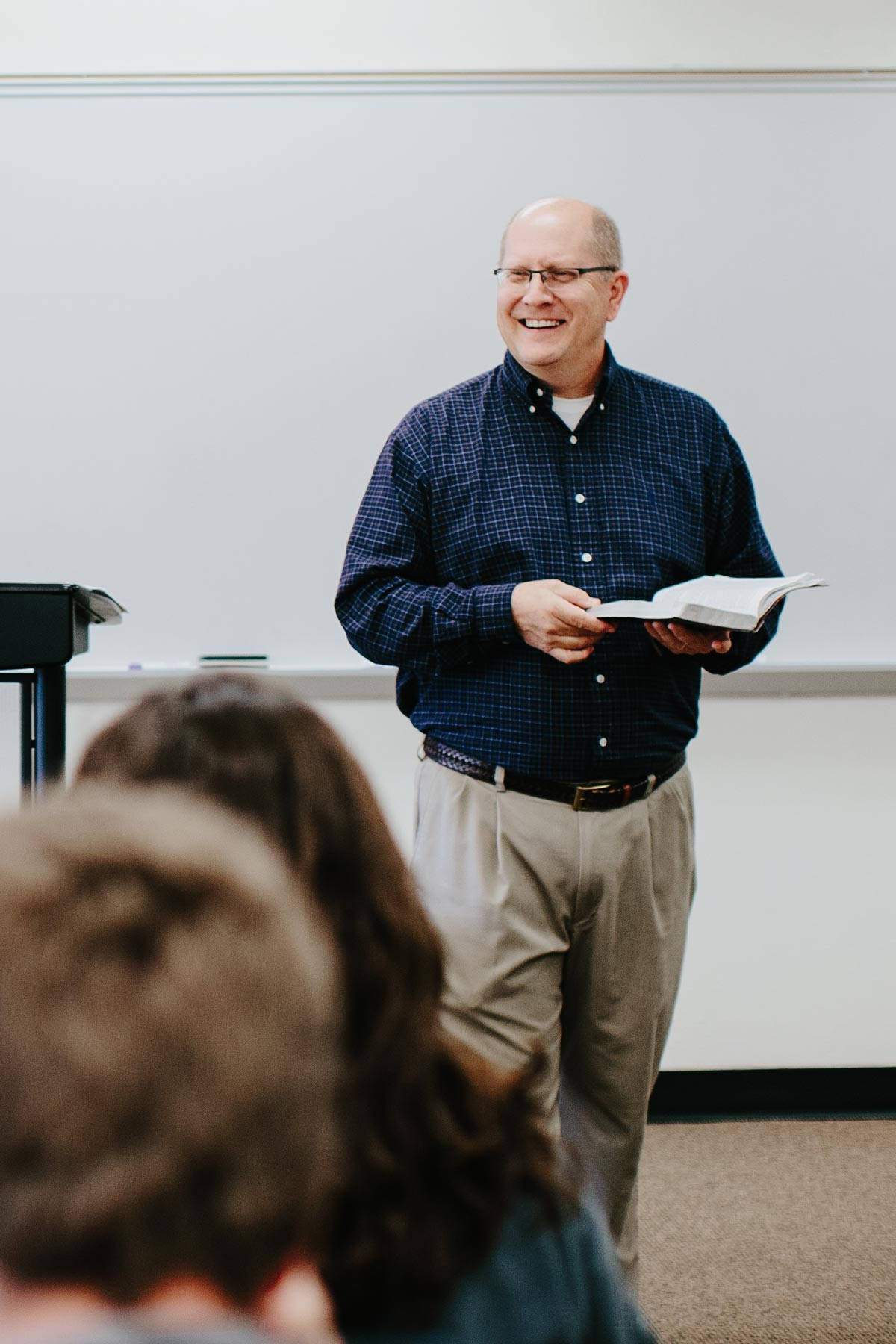 professor teaching bible in biblical studies degree online