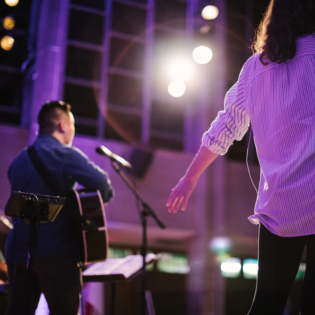 worship on stage at christian colleges in minnesota