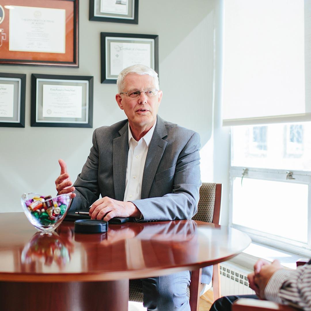 president joel wiggins online grad of crown college