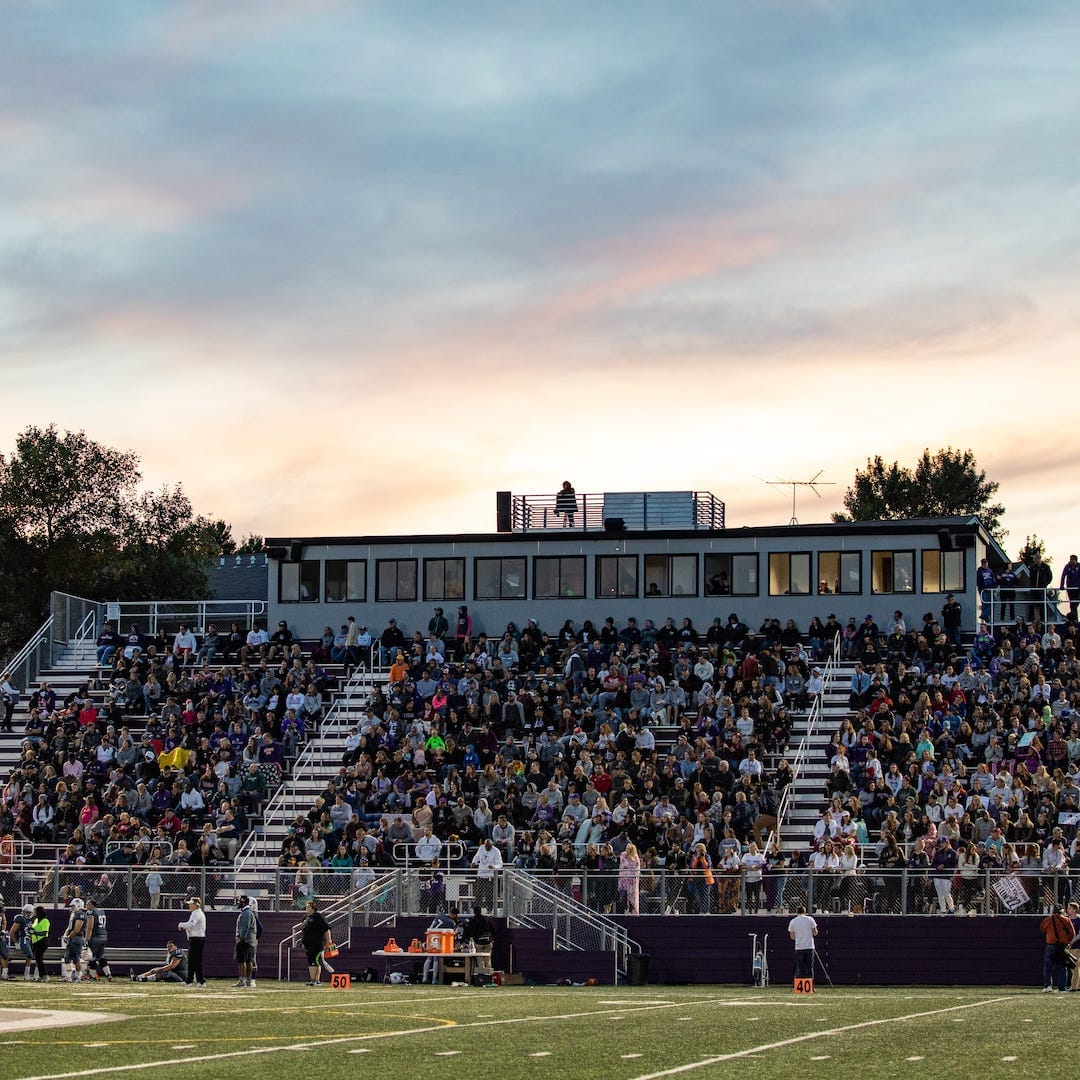homecoming stands full of fans for private christian college