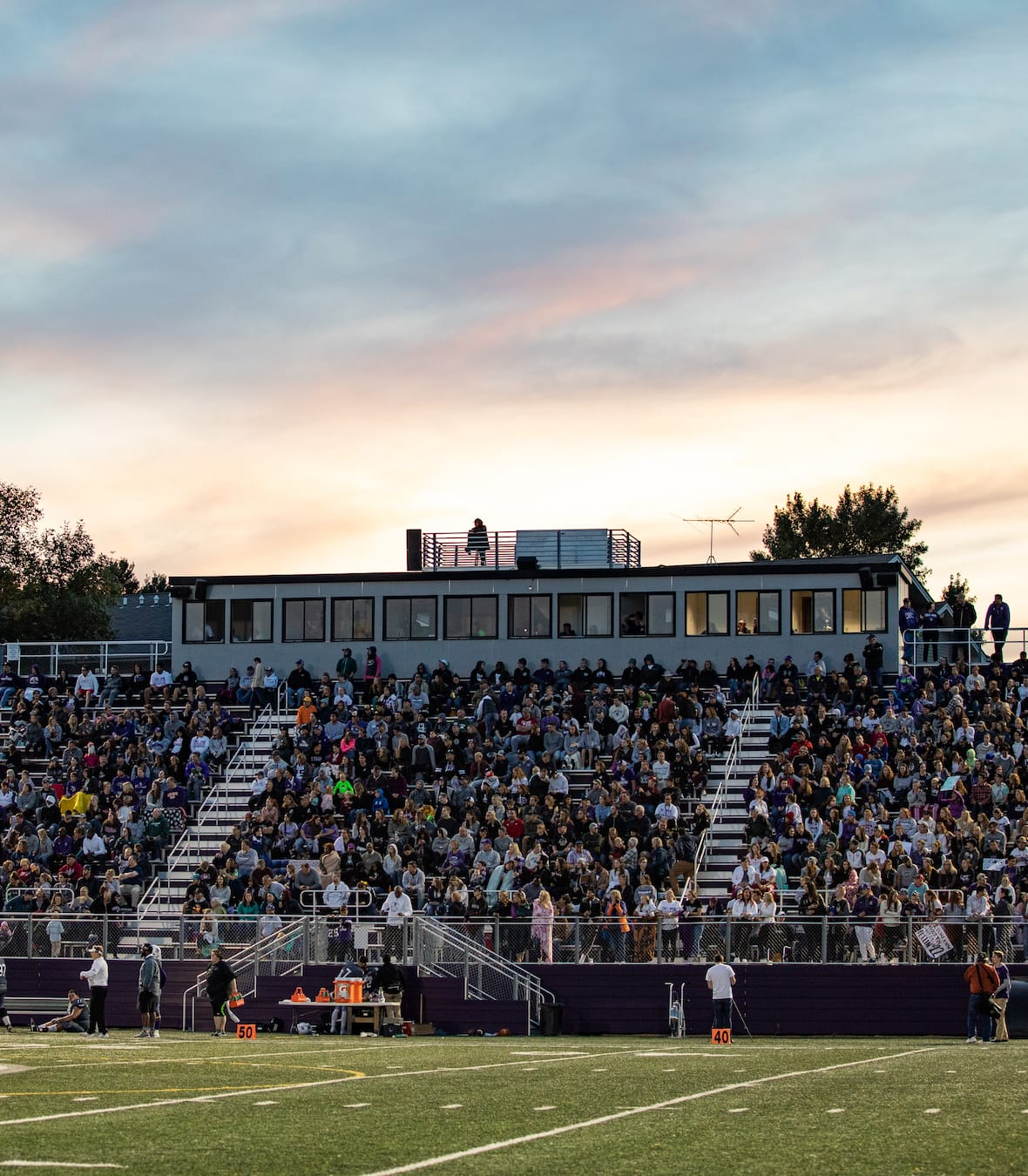 homecoming stadium full of fans a crown college event