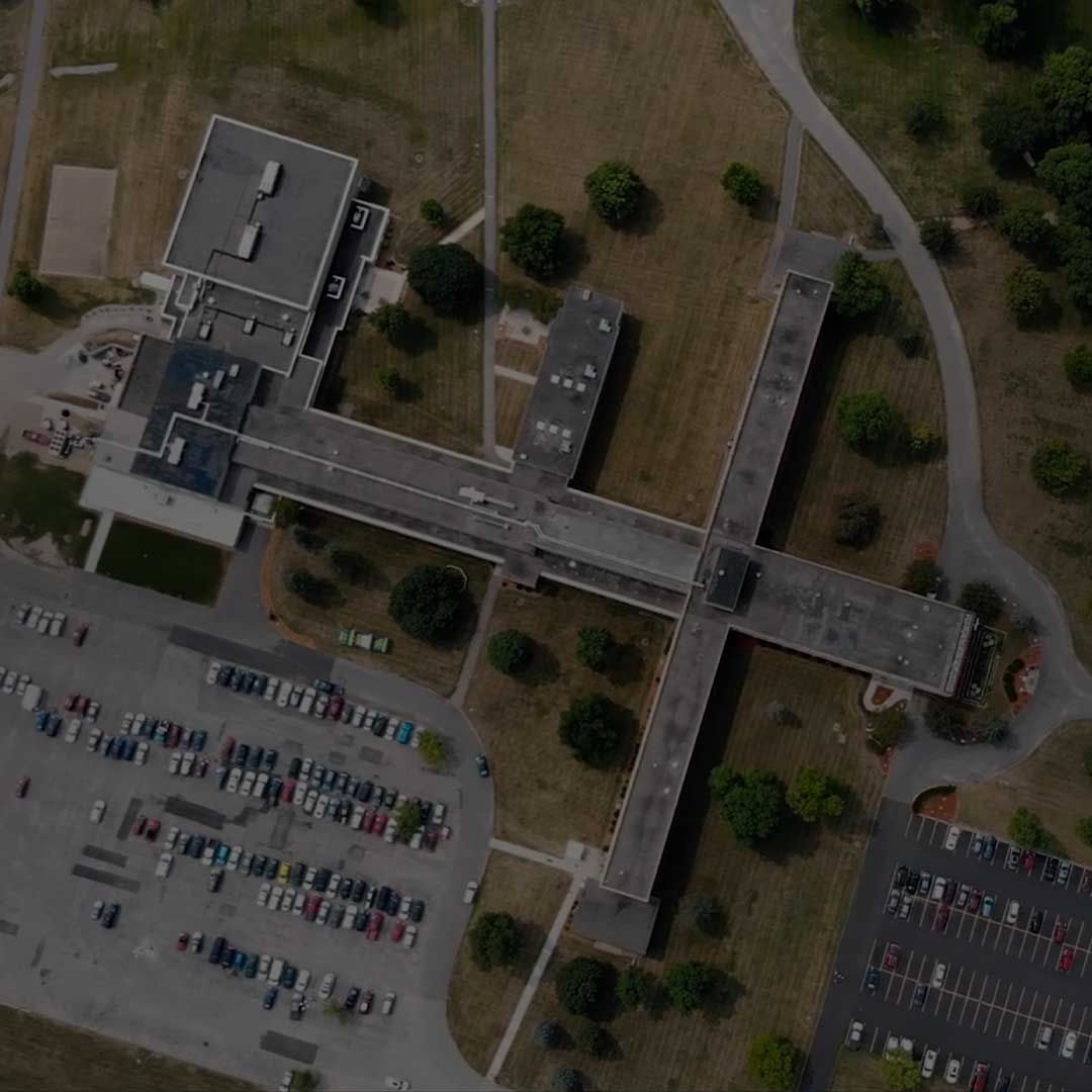 aerial view of school private christian college